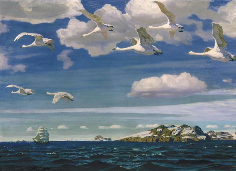 Картина Аркадия Александровича Рылова «В голубом просторе»