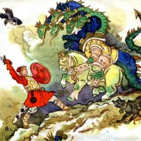 «Иван — крестьянский сын и чудо-юдо». Волшебная богатырская сказка героического содержания. Тема мирного труда и защиты родной земли.
