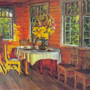 Сочинение-описание по картине К.Ф. Юона «Августовский вечер. Последний луч. Лигачёво»