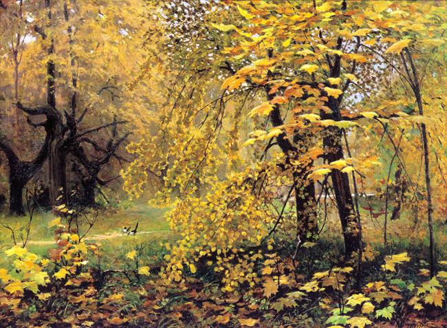 Описание картины Остроухова И.С. Золотая осень