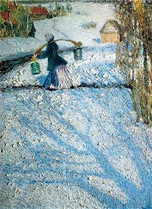 На картине И.Э. Грабаря изображён мартовский день